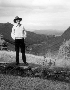 Packie Manus at the head of Glengesh Pass,           		Donegal 1987           		by Stephen Jones